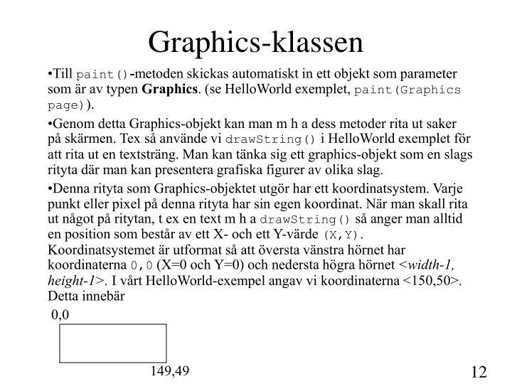 Graphics-klassen