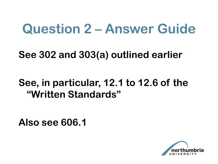 Question 2 – Answer Guide
