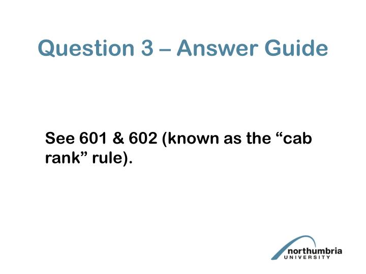 Question 3 – Answer Guide