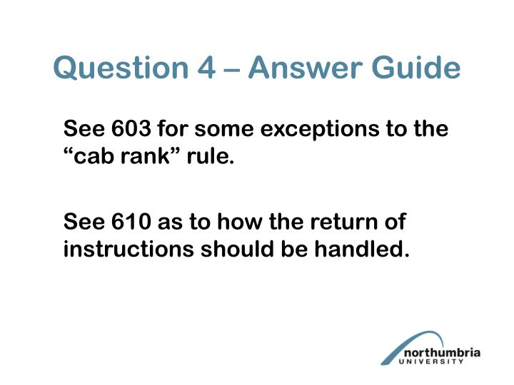 Question 4 – Answer Guide