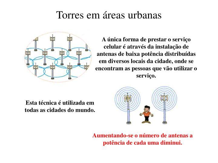 Torres em áreas urbanas