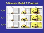 2 domain model t contrast