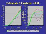 2 domain s contrast 0 5l