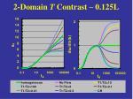 2 domain t contrast 0 125l
