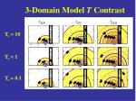 3 domain model t contrast