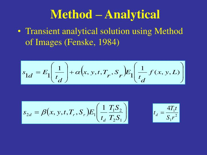 Method – Analytical