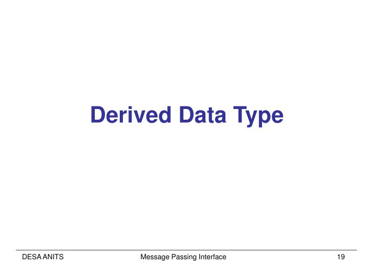 Derived Data Type
