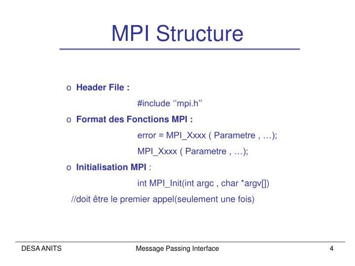 MPI Structure