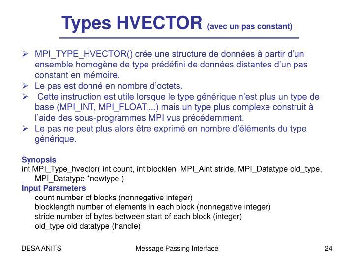 Types HVECTOR