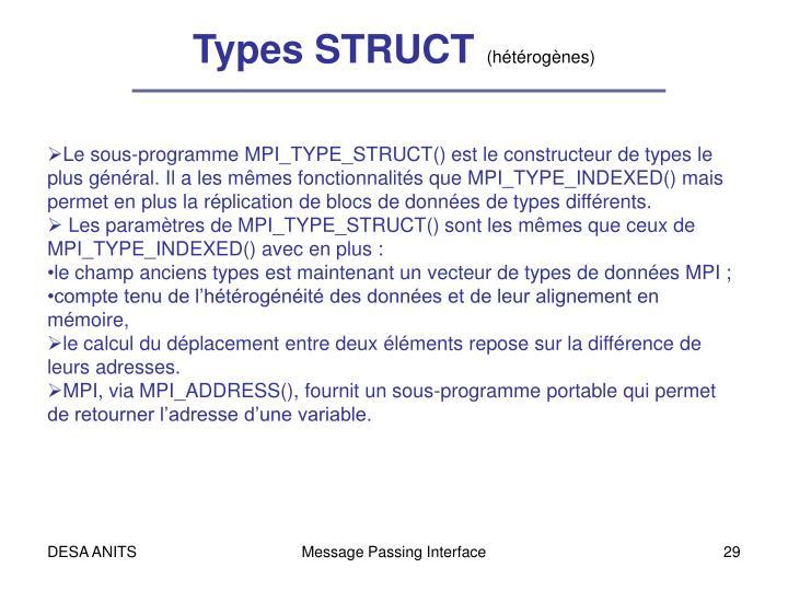 Types STRUCT
