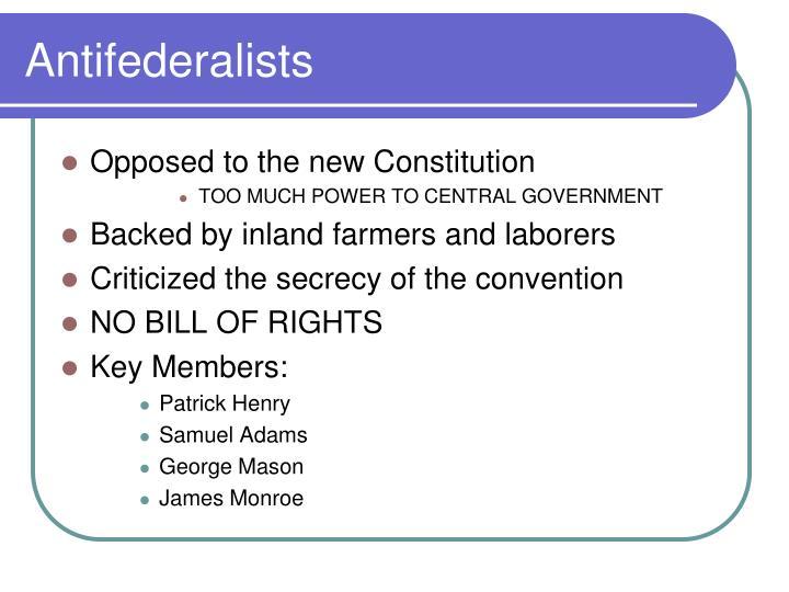 Antifederalists