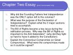 chapter two essay pick 2 and answer fully