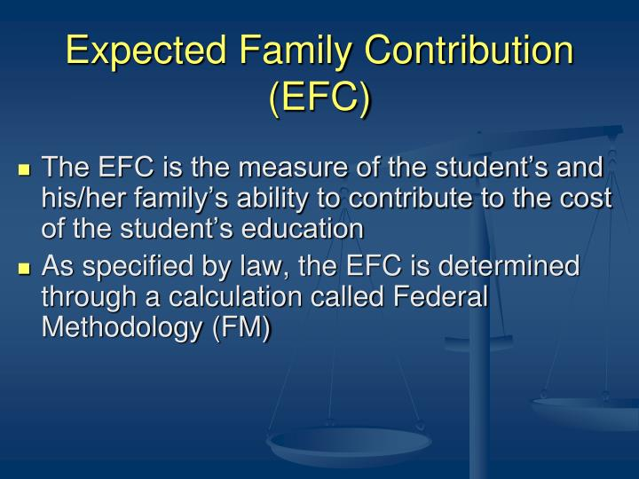 Expected Family Contribution (EFC)