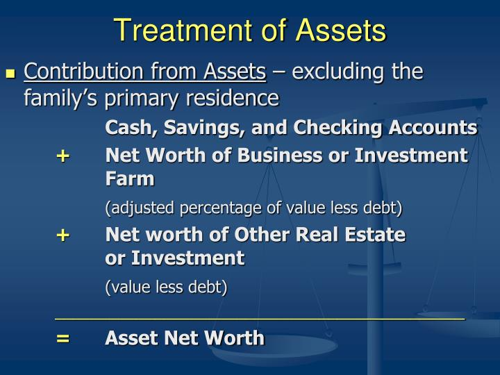 Treatment of Assets