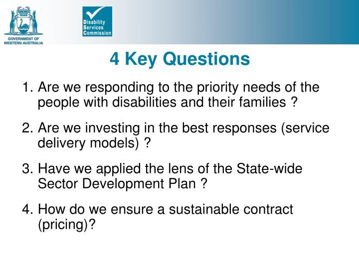 4 Key Questions