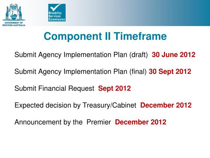 Component II Timeframe