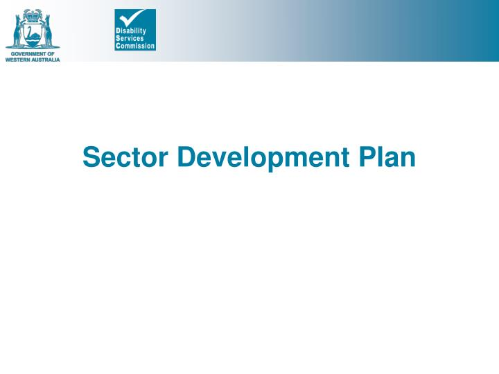 Sector Development Plan