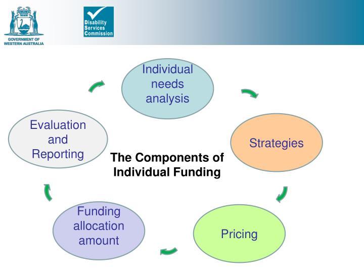 Individual needs analysis