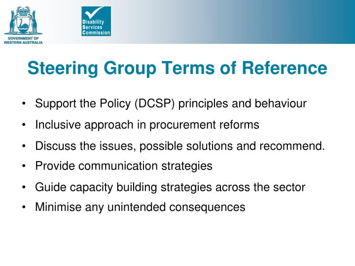 Steering Group Terms of Reference