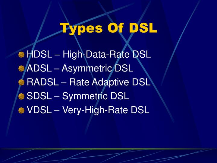 Types Of DSL