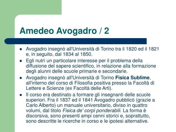 Amedeo Avogadro / 2
