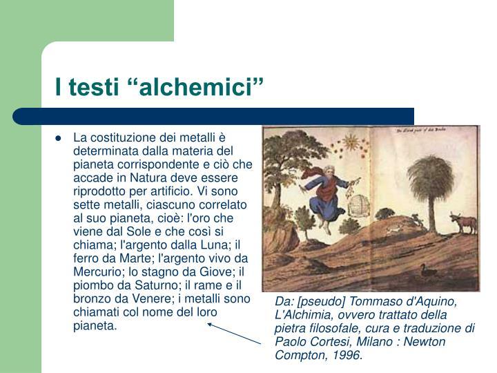 "I testi ""alchemici"""