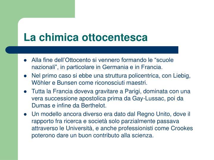 La chimica ottocentesca