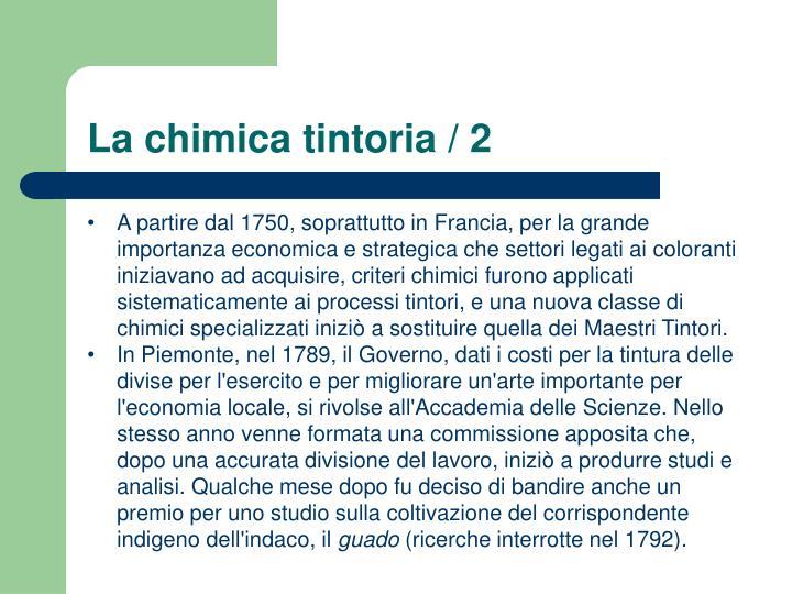 La chimica tintoria / 2