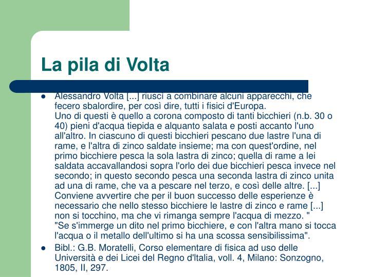 La pila di Volta