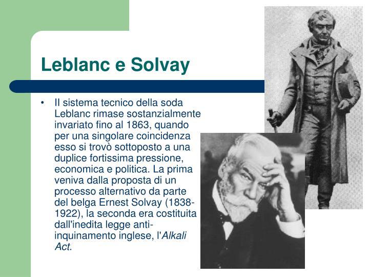 Leblanc e Solvay