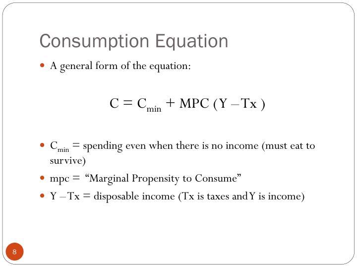 Consumption Equation