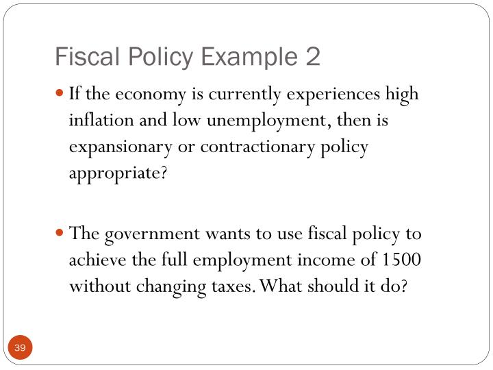Fiscal Policy Example 2