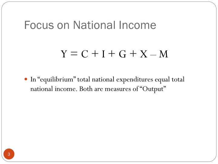 Focus on national income