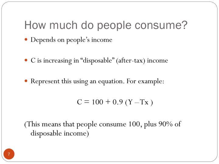 How much do people consume?
