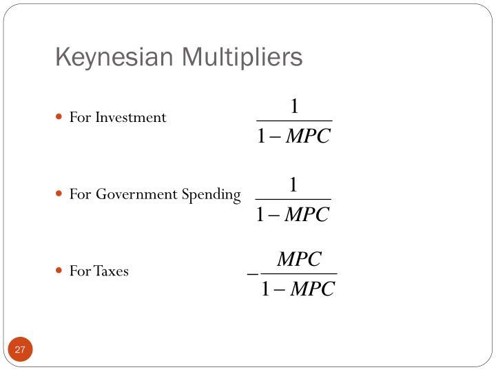 Keynesian Multipliers