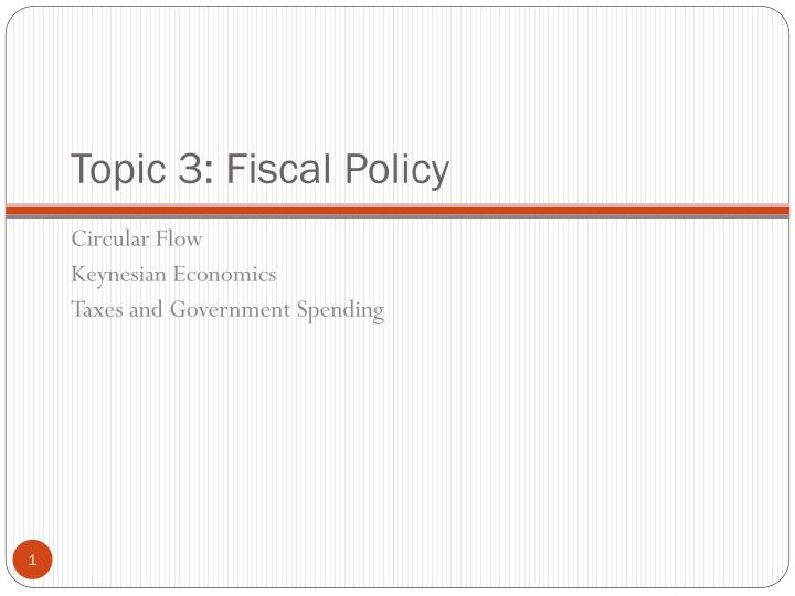 Topic 3 fiscal policy