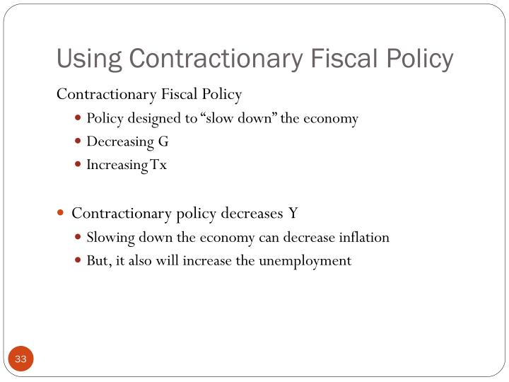 Using Contractionary Fiscal Policy