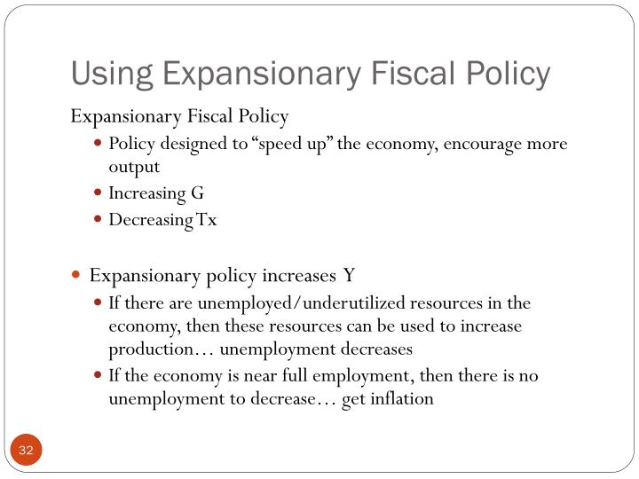 Using Expansionary Fiscal Policy