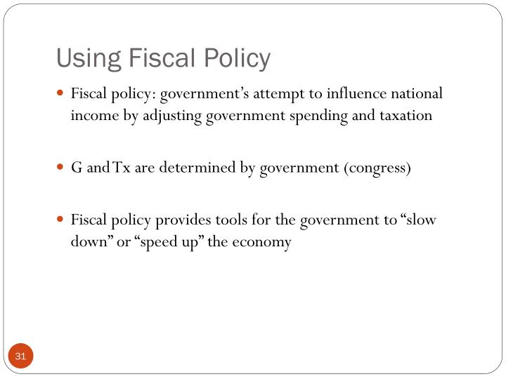 Using Fiscal Policy