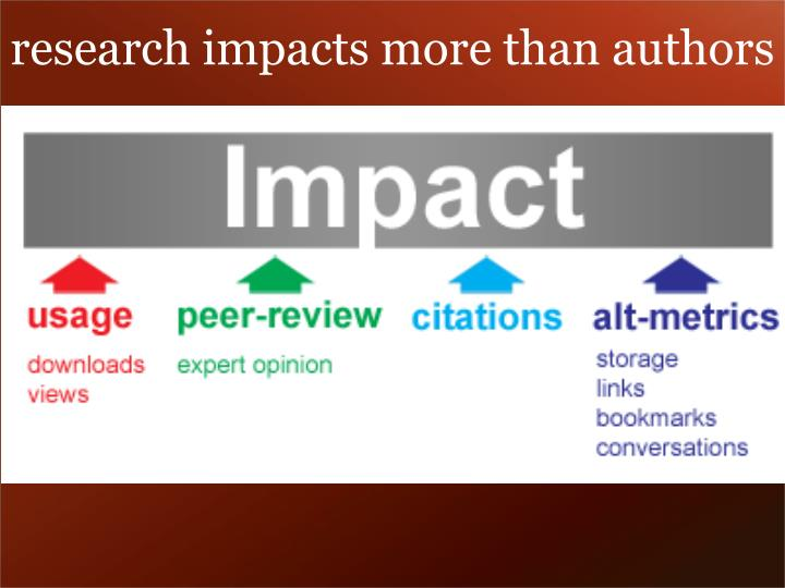 research impacts more than authors