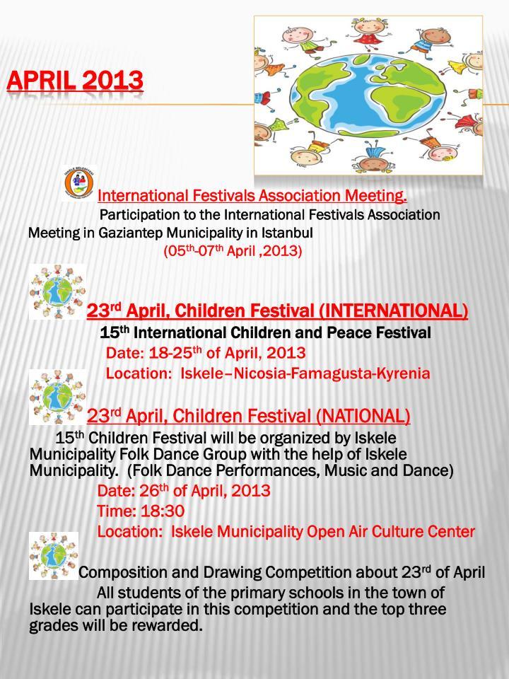 International Festivals Association Meeting.
