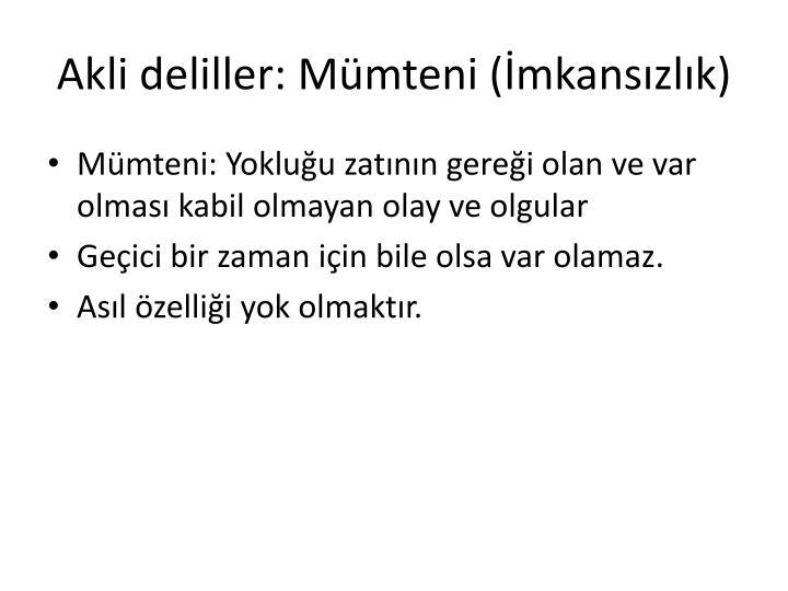 Akli deliller:
