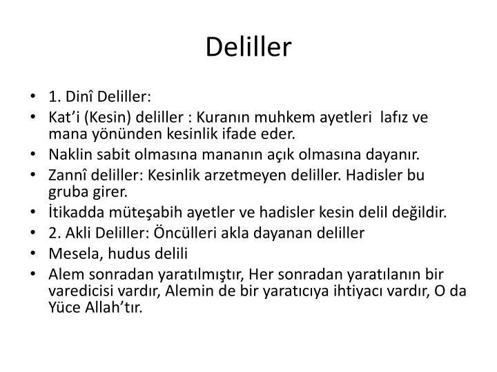 Deliller