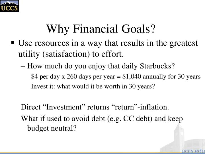 Why Financial Goals?