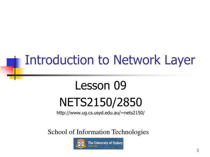 Introduction to network layer
