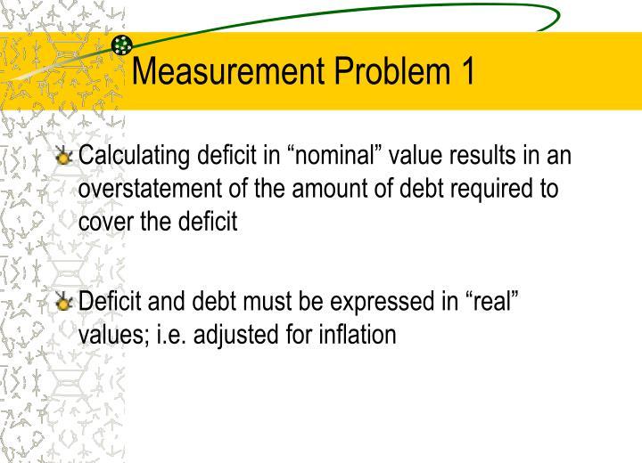 Measurement Problem 1