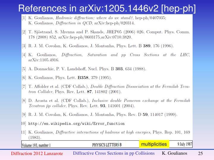 References in arXiv:1205.1446v2 [hep-ph]