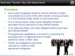 business transfer buy sell agreements1