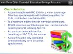 inter vivos gifts coverdell education savings accounts