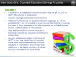 inter vivos gifts coverdell education savings accounts1